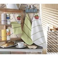 Кухня полотенце (2шт.) вафельное+махровое ФРУКТЫ