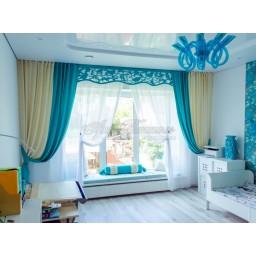 Комплект штор для детской комнаты девочки